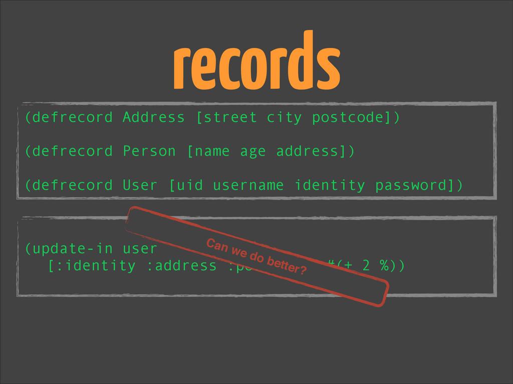 ! (update-in user [:identity :address :postcode...