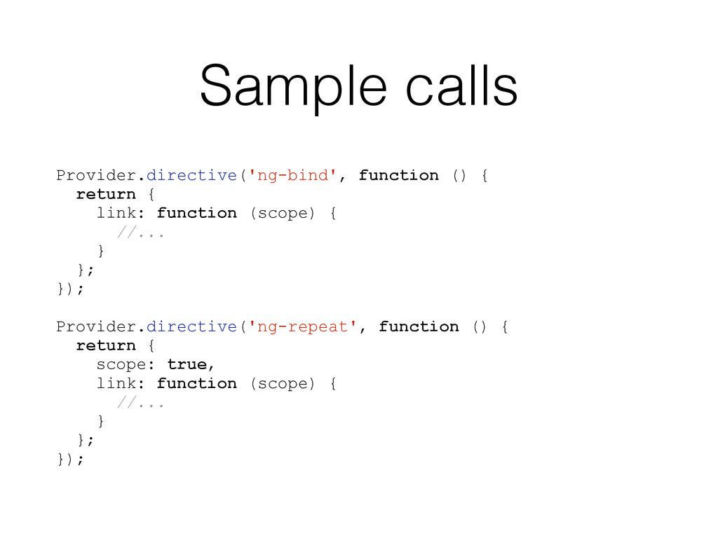Sample calls Provider.directive('ng-bind', func...