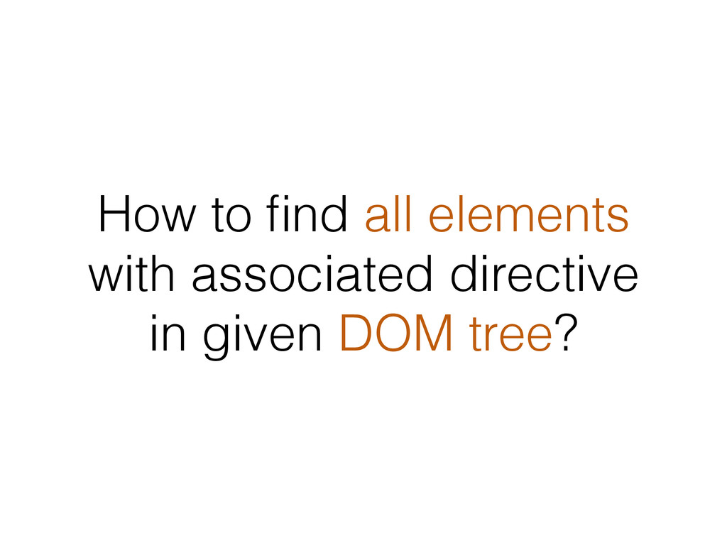 How to find all elements with associated directi...