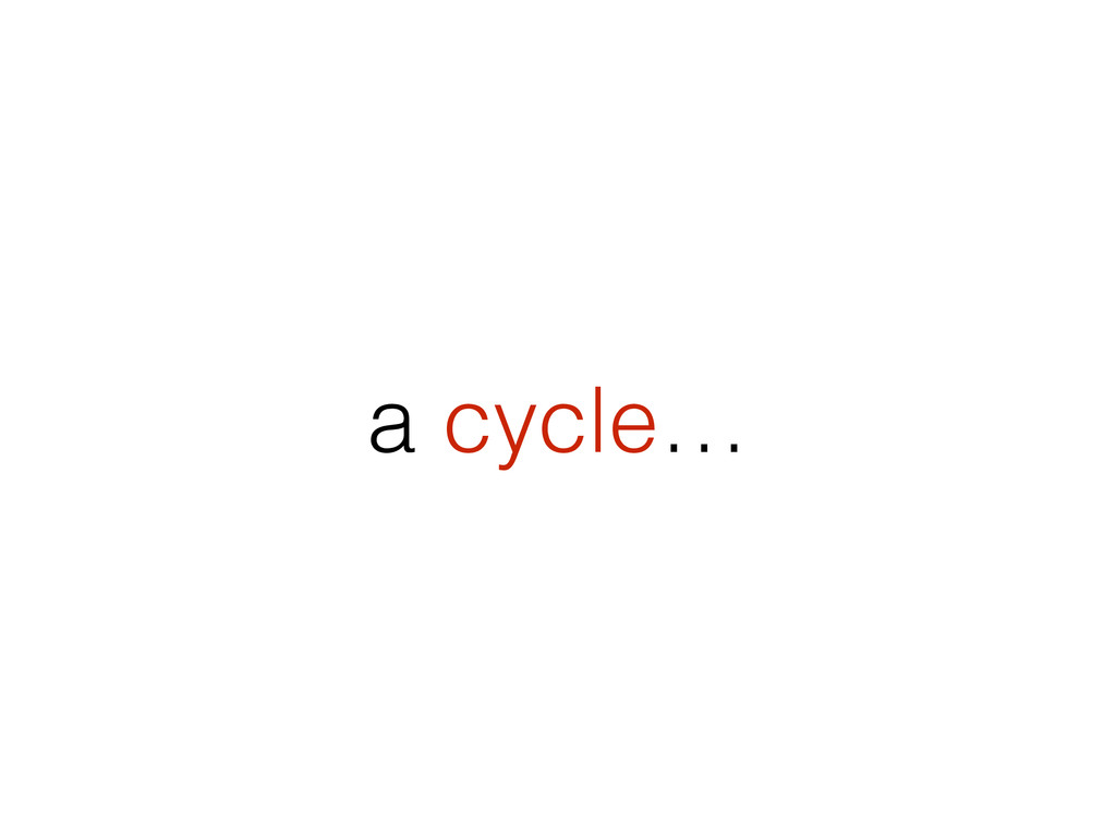 a cycle…