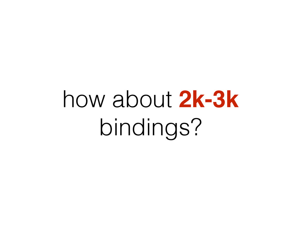 how about 2k-3k bindings?