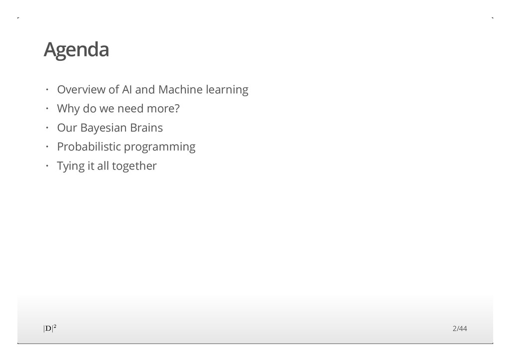 Agenda Overview of AI and Machine learning Why ...