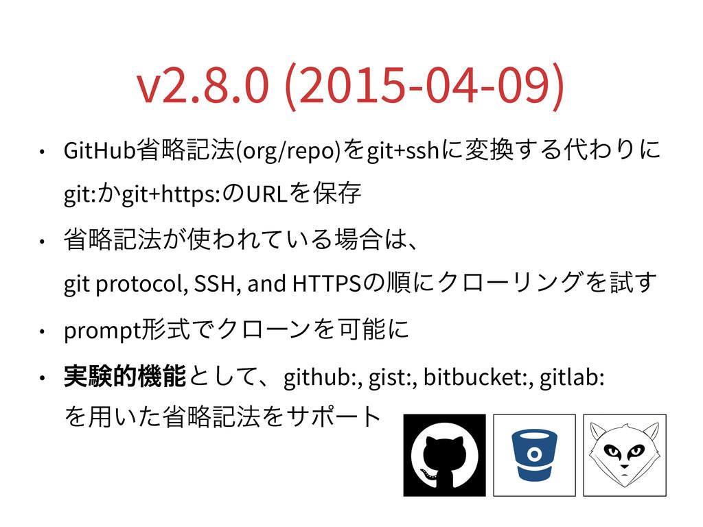 v2.8.0 (2015-04-09) • GitHubলུه๏(org/repo)Λgit+...