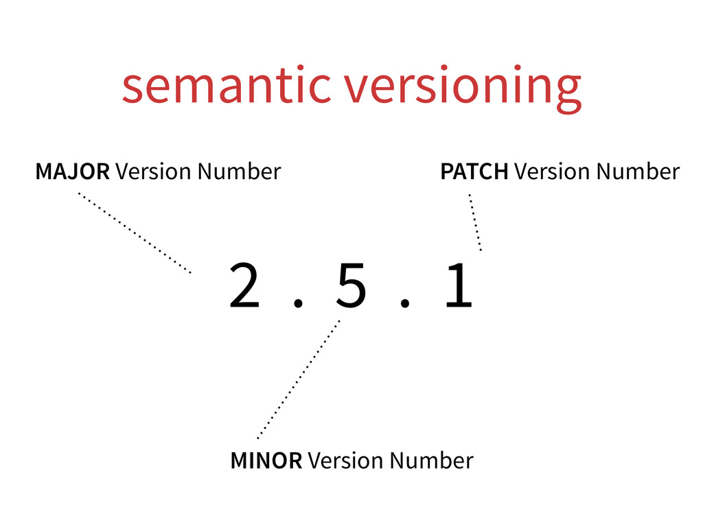 semantic versioning 2 . 5 . 1 MAJOR Version Num...