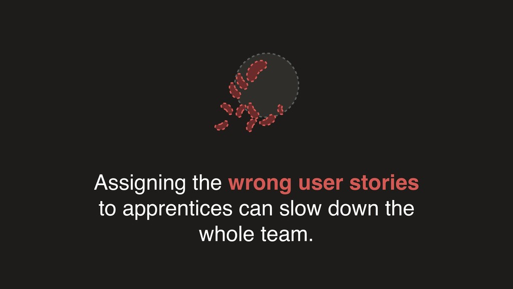 Assigning the wrong user stories to apprentices...