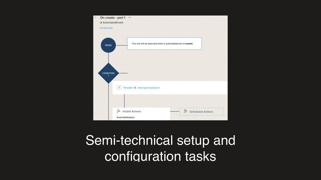 Semi-technical setup and configuration tasks