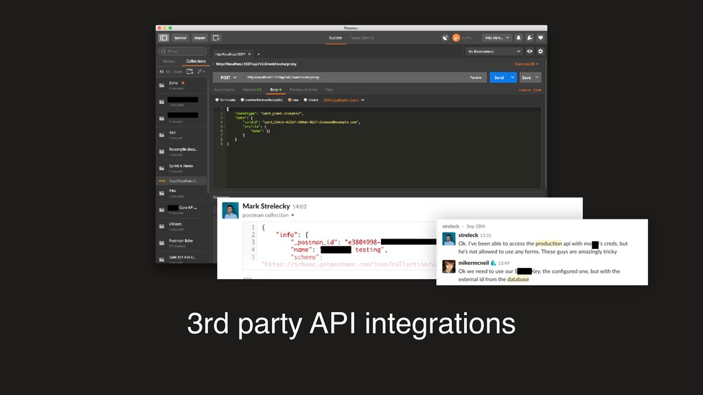 3rd party API integrations