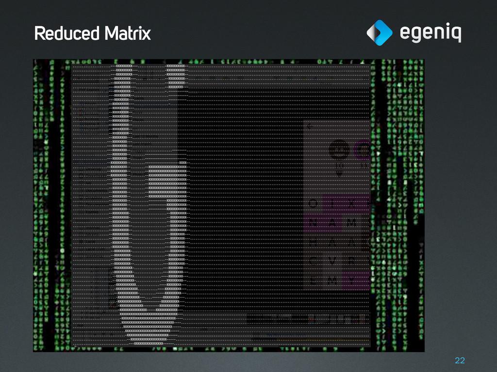 Reduced Matrix 22