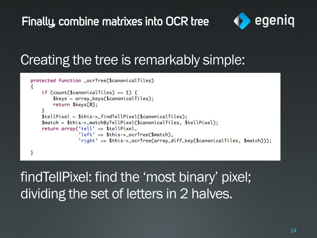 Finally, combine matrixes into OCR tree Creatin...