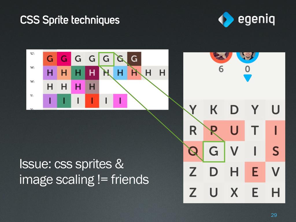 CSS Sprite techniques 29 Issue: css sprites & i...