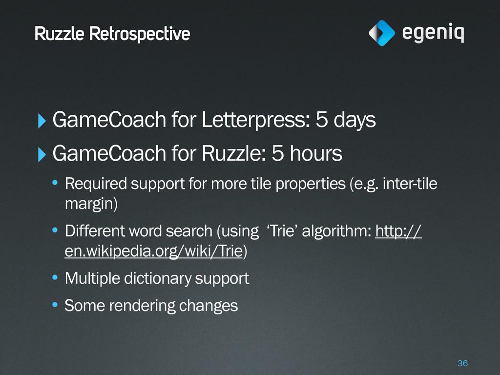 Ruzzle Retrospective ‣GameCoach for Letterpress...