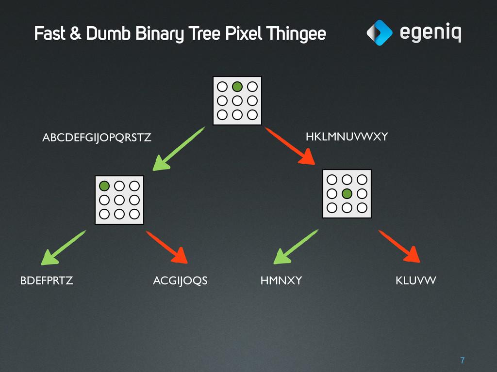 Fast & Dumb Binary Tree Pixel Thingee 7 ABCDEFG...