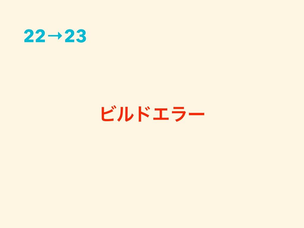 ϏϧυΤϥʔ 22→23