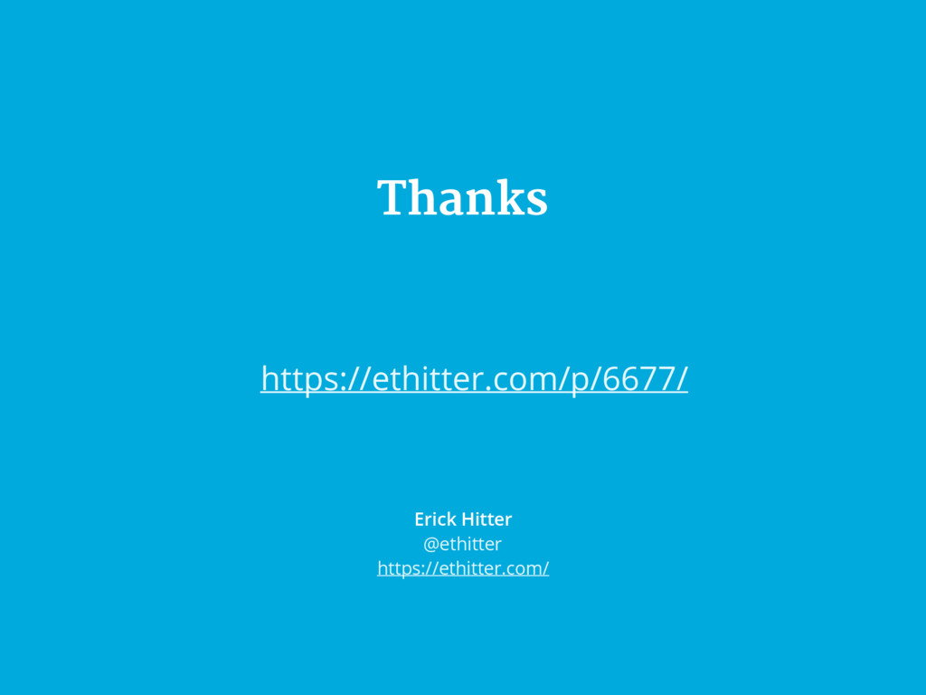 Thanks Erick Hitter @ethitter https://ethitter....