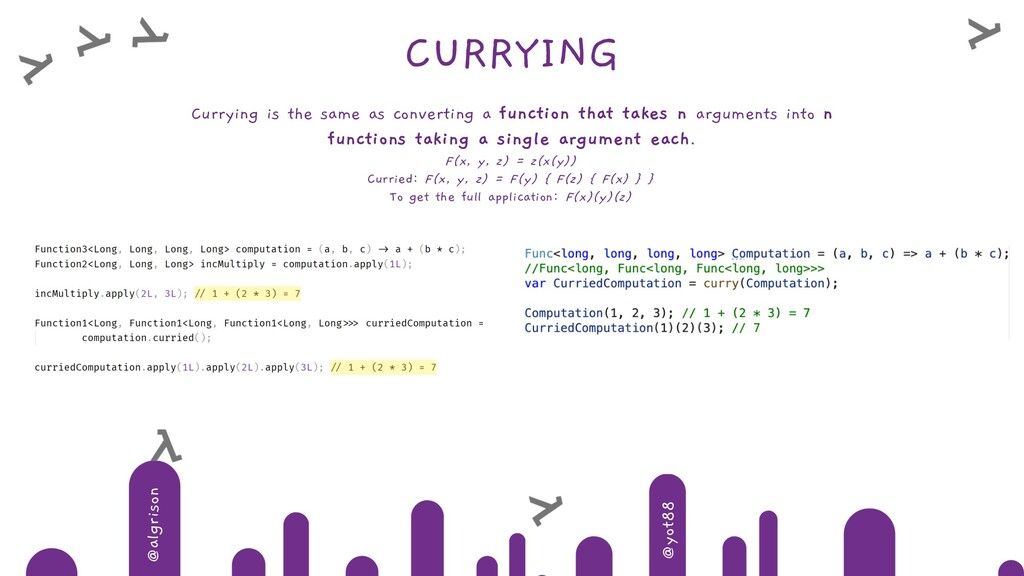 @algrison @yot88 CURRYING Currying is the same ...