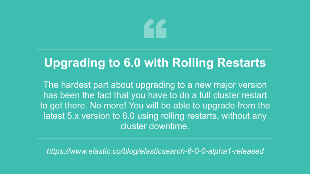 ‹#› Upgrading to 6.0 with Rolling Restarts The ...