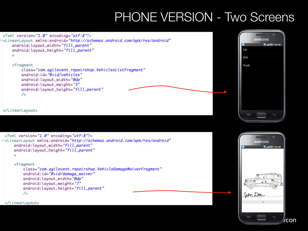 #andevcon PHONE VERSION - Two Screens