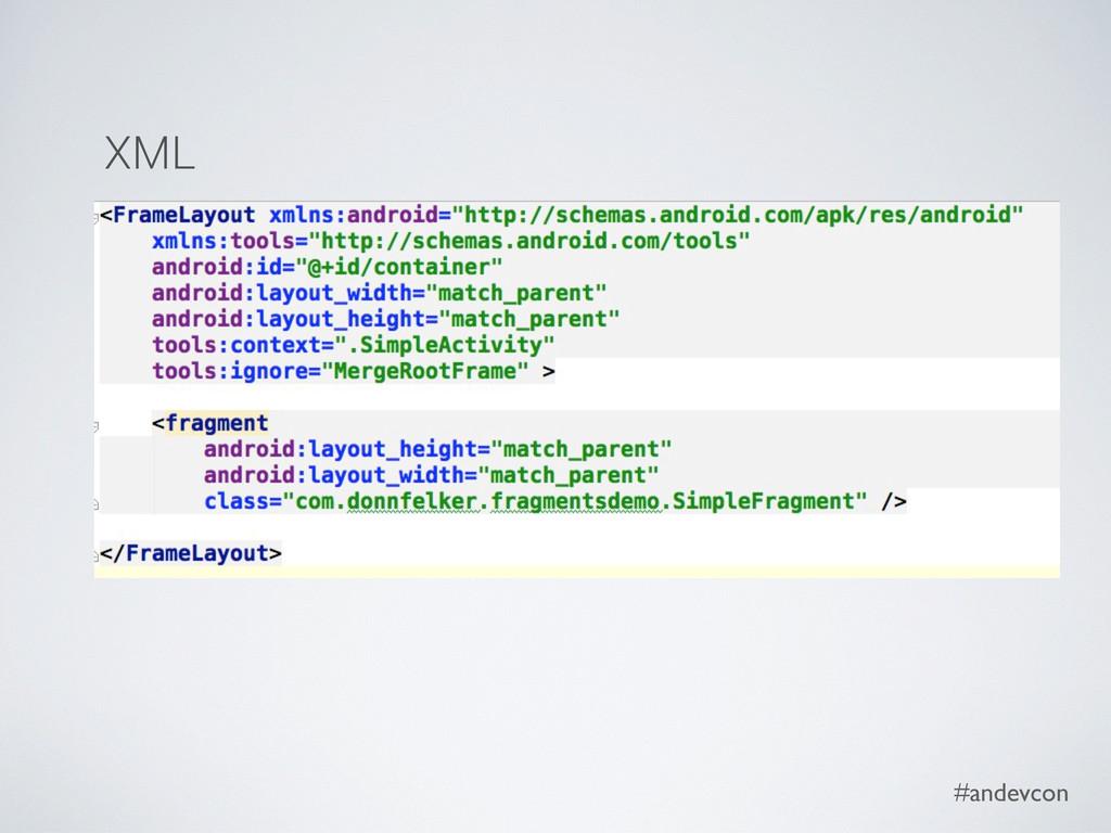 #andevcon XML