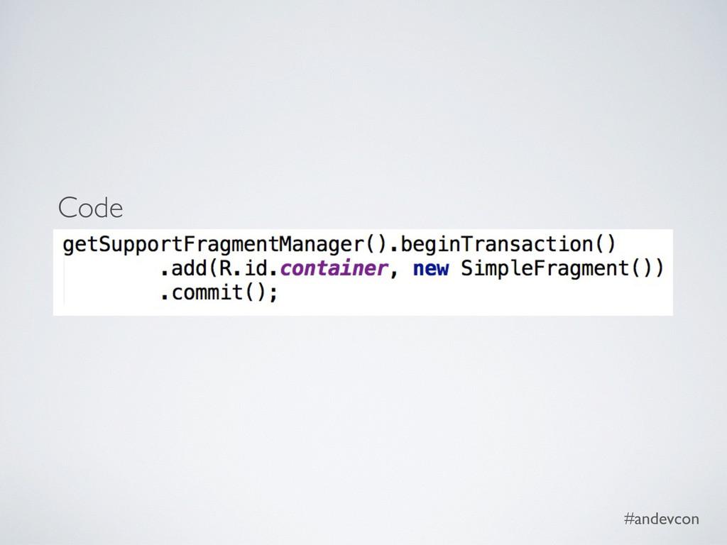 #andevcon Code
