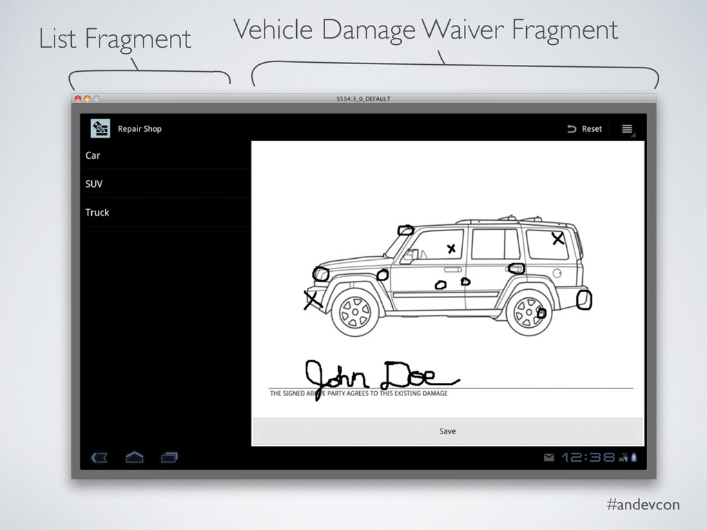 #andevcon List Fragment Vehicle Damage Waiver F...