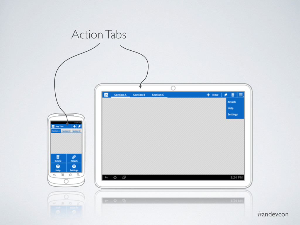 #andevcon Action Tabs