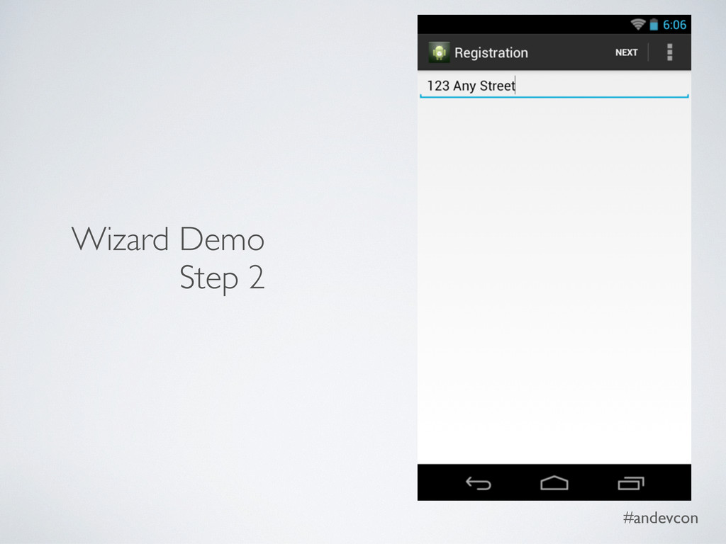 #andevcon Wizard Demo Step 2
