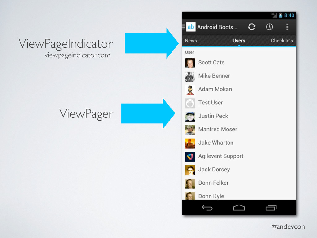 #andevcon ViewPager ViewPageIndicator viewpagei...