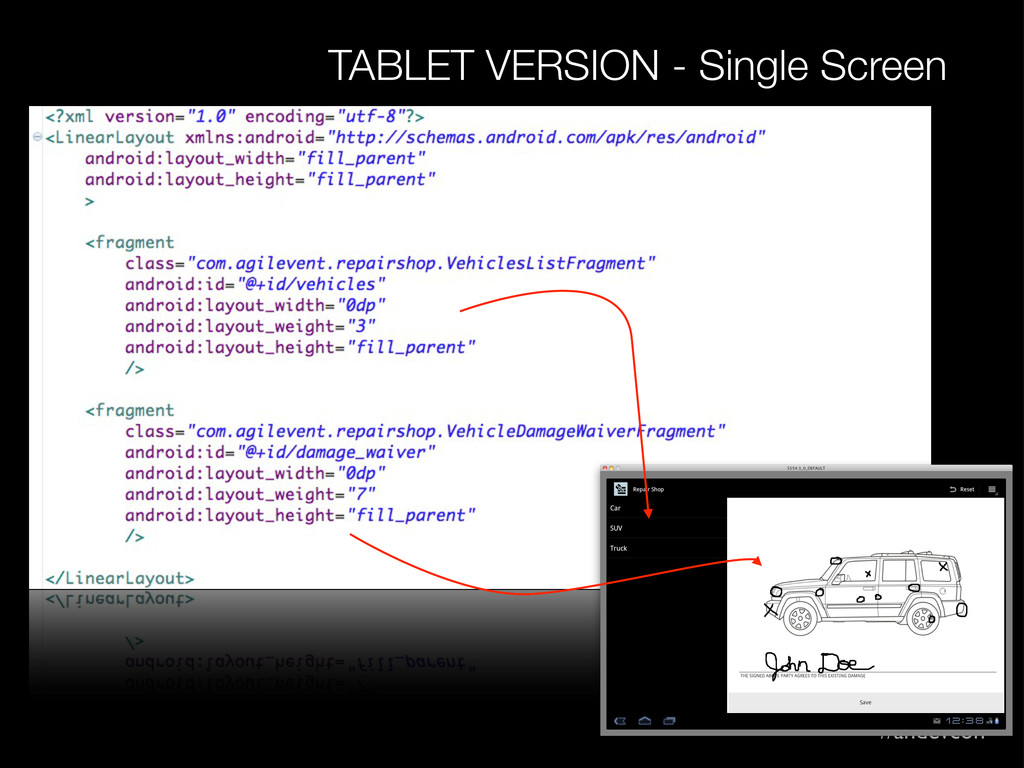 #andevcon TABLET VERSION - Single Screen