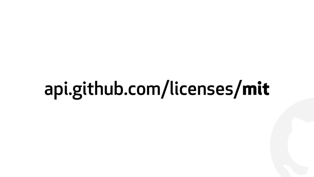 ! api.github.com/licenses/mit