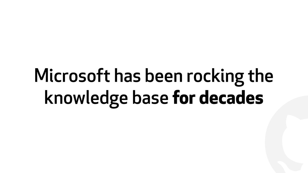 ! Microsoft has been rocking the knowledge base...
