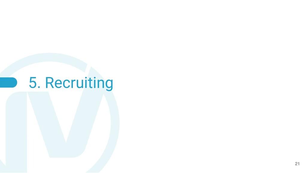 5. Recruiting 21