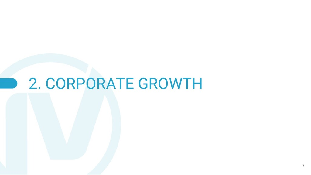 2. CORPORATE GROWTH 9