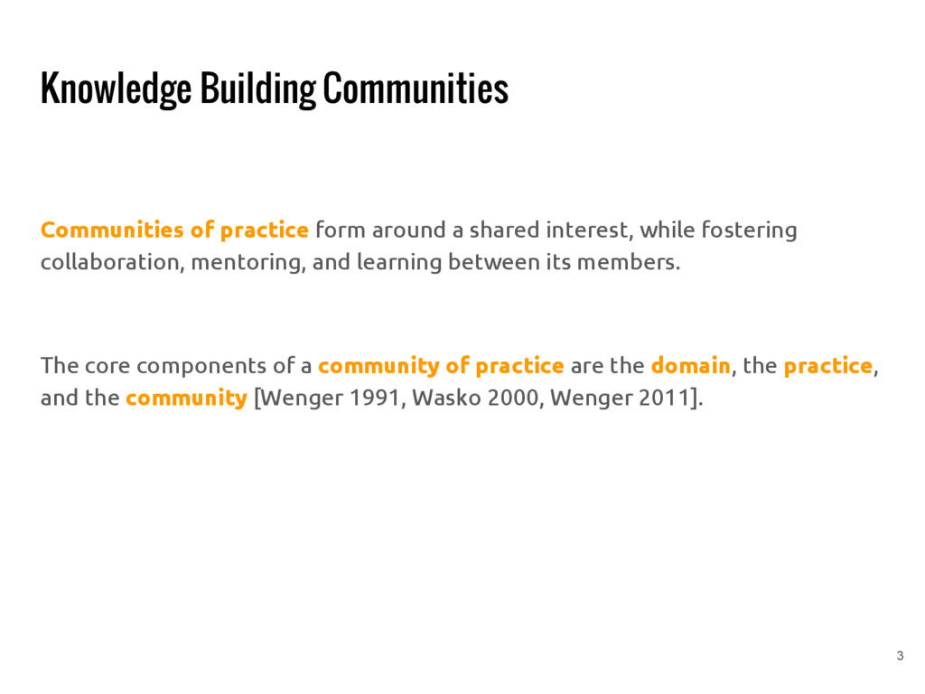 Knowledge Building Communities Communities of p...