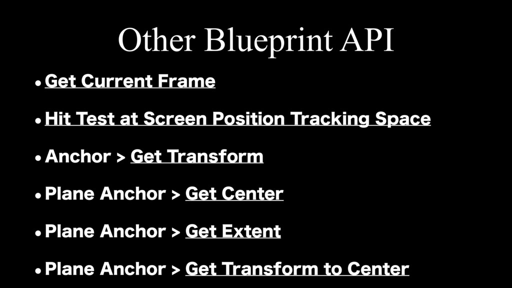 Other Blueprint API w(FU$VSSFOU'SBNF w)JU5F...