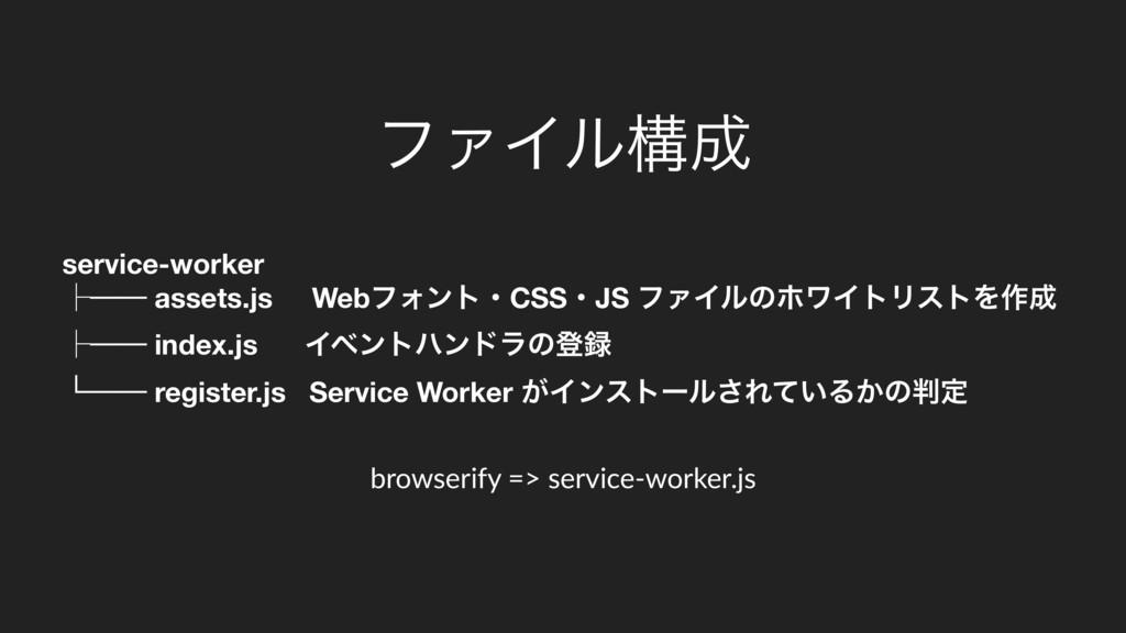 service-worker ᵓ── assets.js WebϑΥϯτɾCSSɾJS ϑΝΠ...
