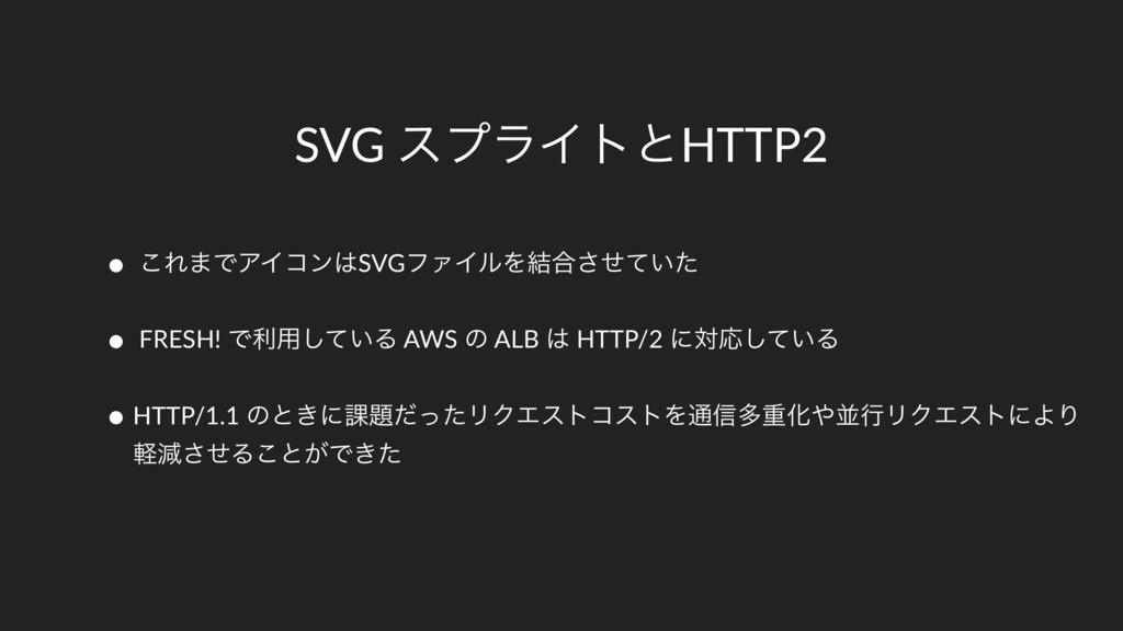 SVG εϓϥΠτͱHTTP2 • ͜Ε·ͰΞΠίϯSVGϑΝΠϧΛ݁߹͍ͤͯͨ͞ • FR...
