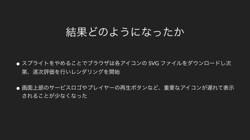 ݁ՌͲͷΑ͏ʹͳ͔ͬͨ • εϓϥΠτΛΊΔ͜ͱͰϒϥβ֤ΞΠίϯͷ SVG ϑΝΠϧΛ...