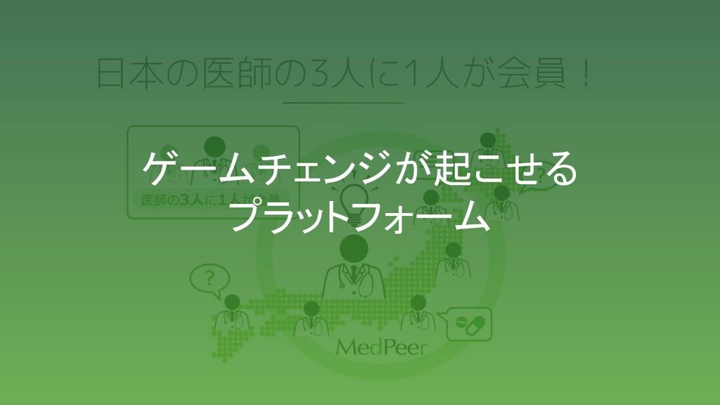 日本の医師の3人に1人が会員! ゲームチェンジが起こせる プラットフォーム