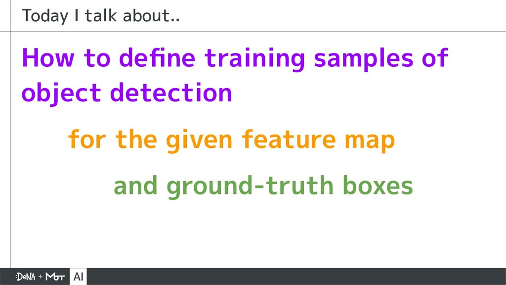 How to define training samples of object detecti...