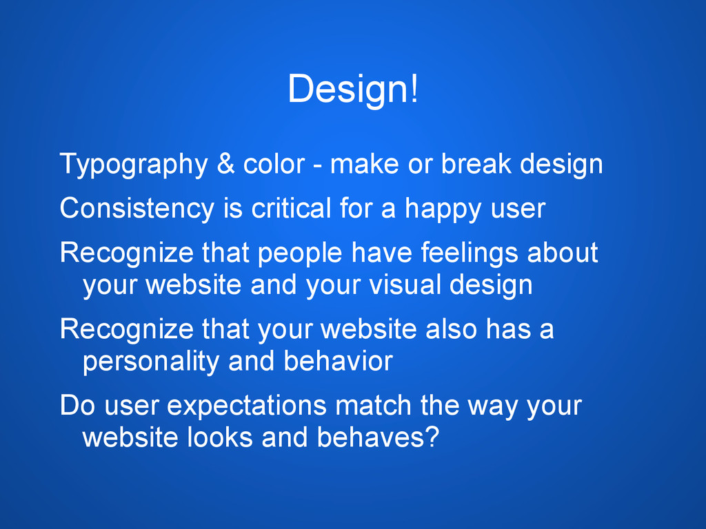 Design! Typography & color - make or break desi...