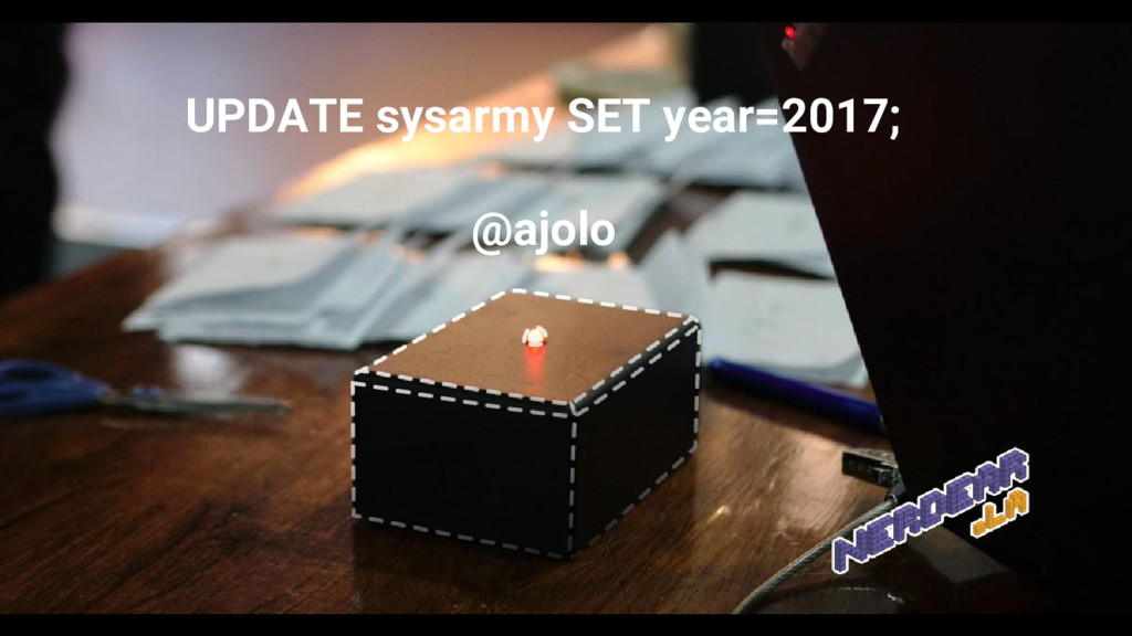 UPDATE sysarmy SET year=2017; @ajolo