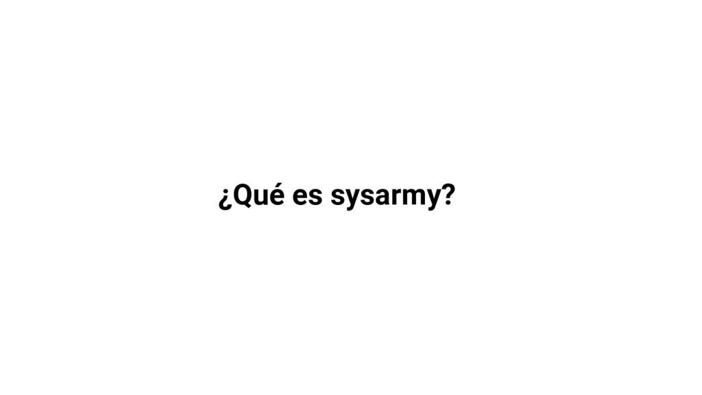 ¿Qué es sysarmy?