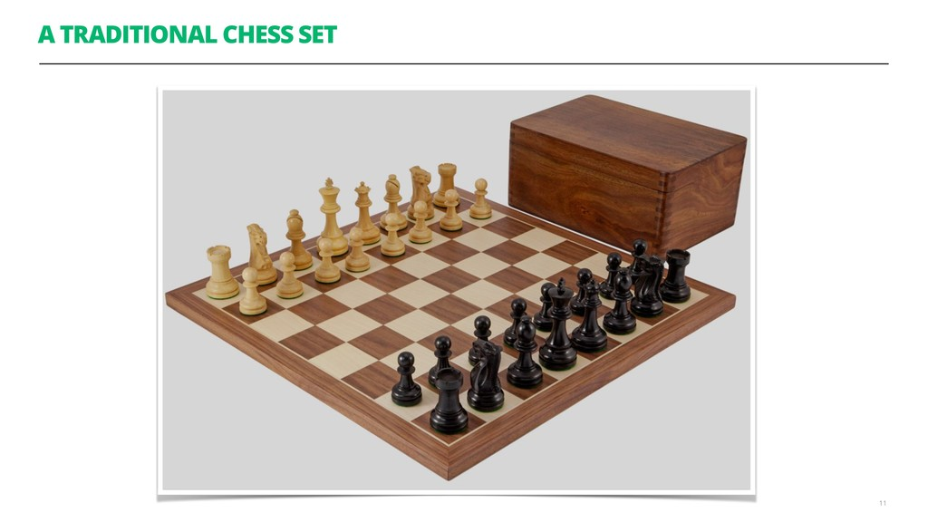 A TRADITIONAL CHESS SET 11