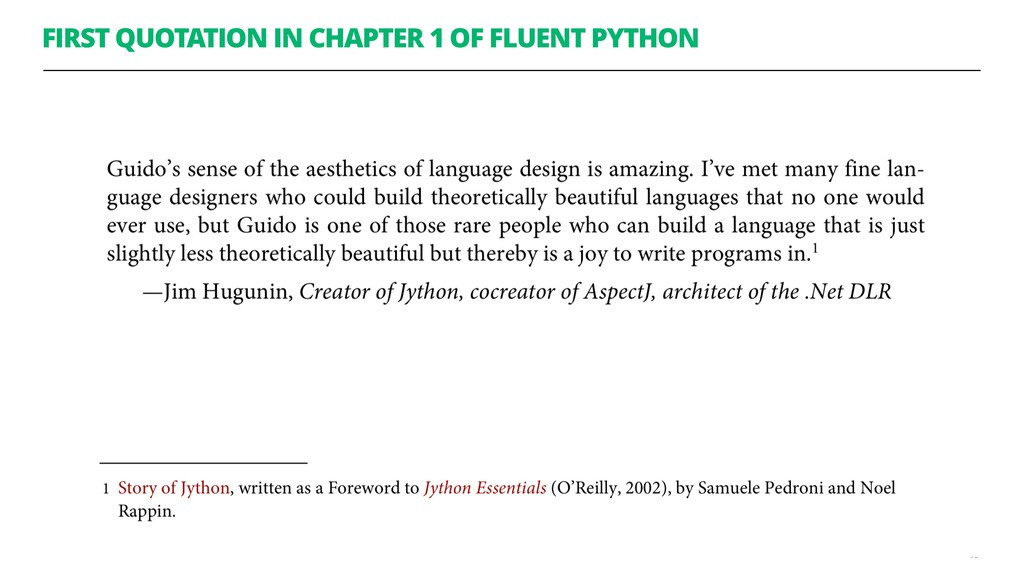 FIRST QUOTATION IN CHAPTER 1 OF FLUENT PYTHON 95