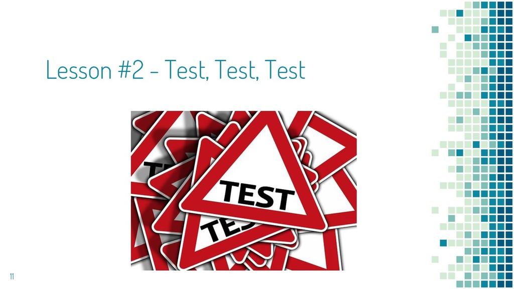 Lesson #2 - Test, Test, Test 11