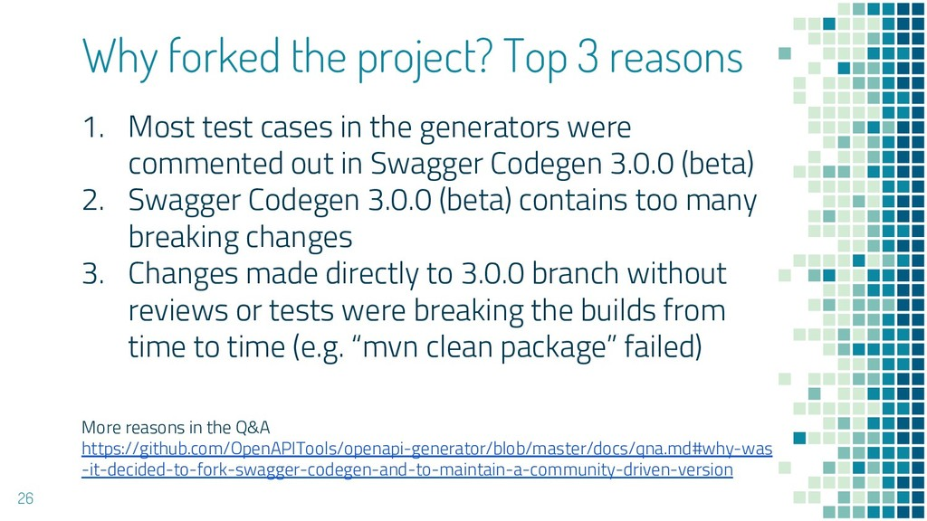 Why forked the project? Top 3 reasons 1. Most t...