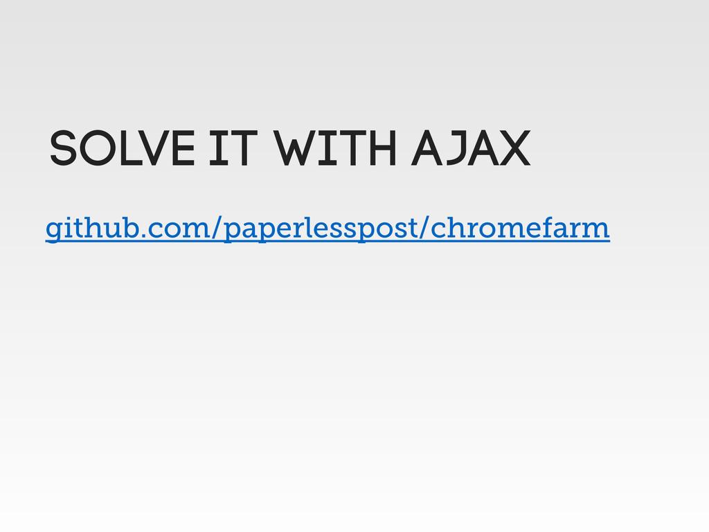github.com/paperlesspost/chromefarm Solve it wi...