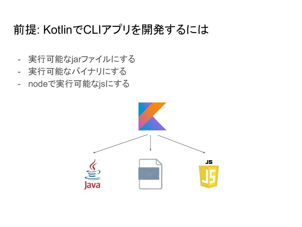 前提: KotlinでCLIアプリを開発するには - 実行可能なjarファイルにする - 実行...