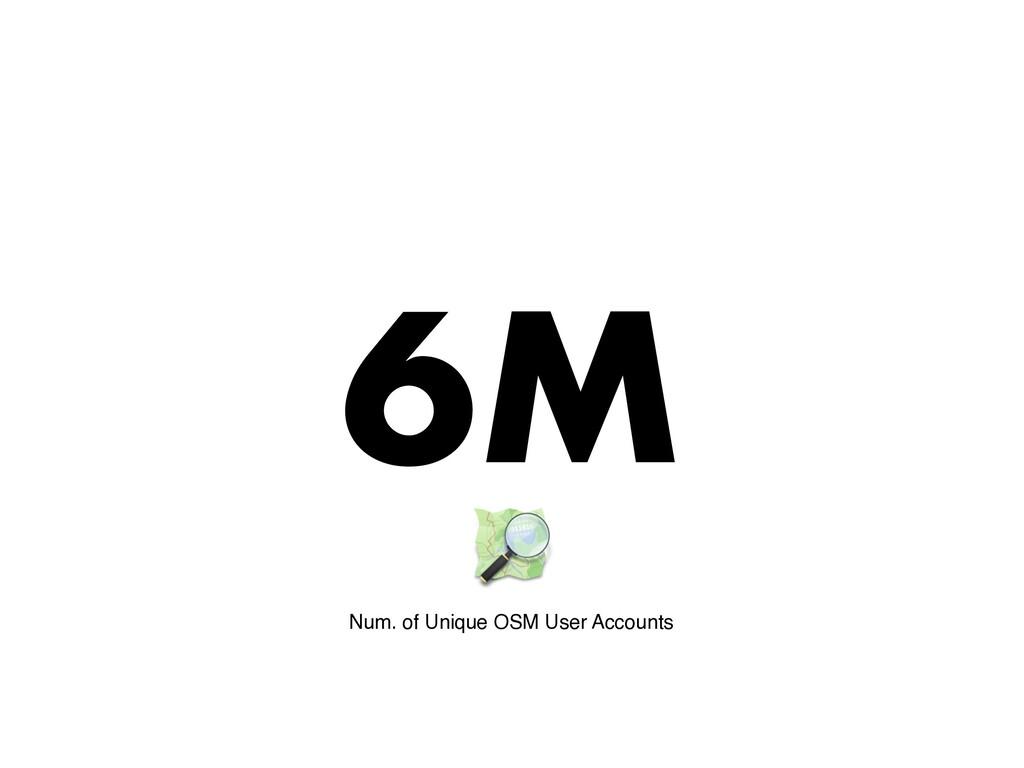 6M Num. of Unique OSM User Accounts