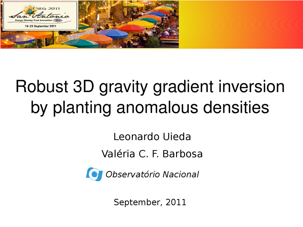 Robust 3D gravity gradient inversion by plantin...